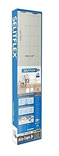 SELITFLEX 3 mm AquaStop - Verlegeunterlage für Parkett und Laminat mit Feuchteschutz (10,2 m² + Tape)